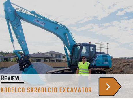 Kobelco SK260LC10 excavator review