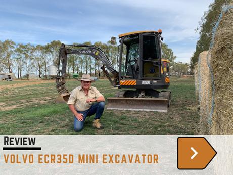Volvo ECR35D mini excavator