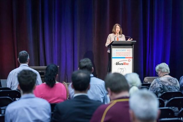 Lisa Faldon speaking at the 2019 BusVic Expo.jpg