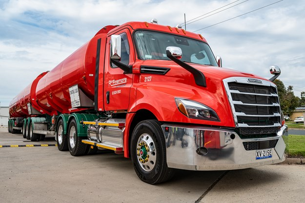 RFT use Freightliner Casadia in their liquids haulage division.jpg