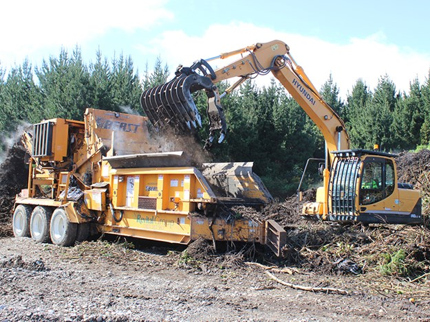 The 14-tonner works well in muddy conditions