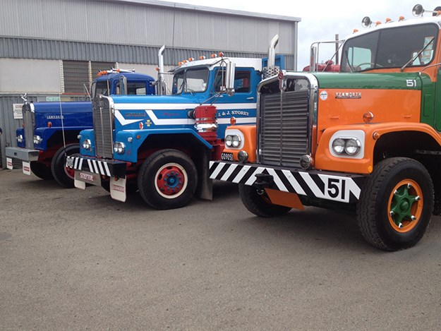 Pioneers: three of the first Kenworth truck load into NZ in 1965