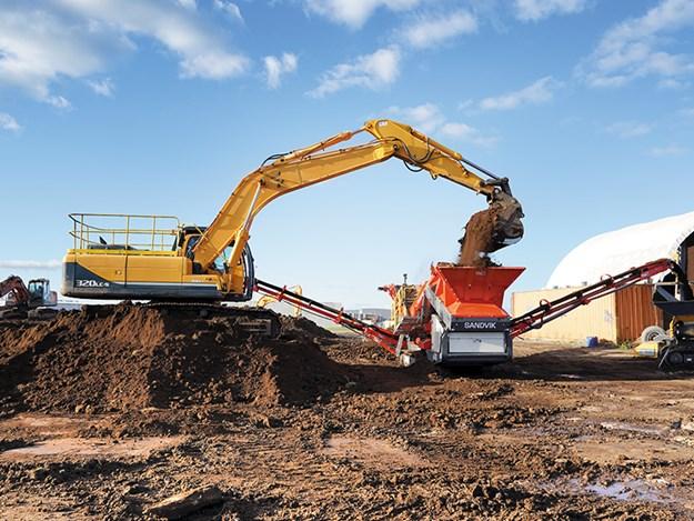 The 17.5T scalper is capable of maximum throughput of 350 metric tonnes per hour