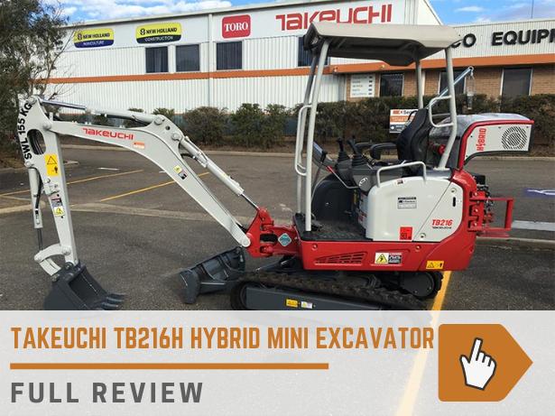 Takeuchi TB216H hybrid mini excavator