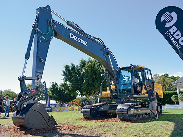 John Deere E210 LC excavator demo model at the RDO Equipment stand.jpg