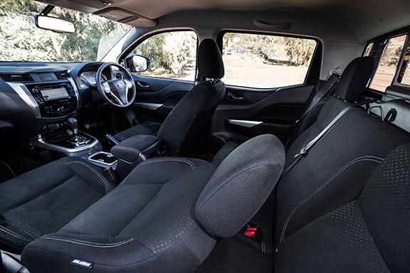 The Mitsubishi Navara's interior
