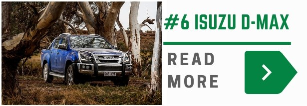 The Isuzu D-Max is the 6th best selling 4x4 ute