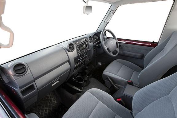 The Toyota Lancruiser 79 series interior