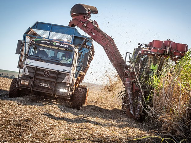 Mercedes-Benz truck Axor 3131 for automated use in sugar cane harvesting