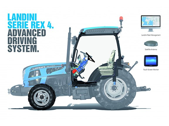 The Landini Rex 4 and Advanced Driving System