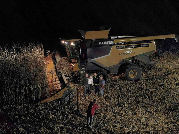 Just after the Claas Lexion broke the harvesting records