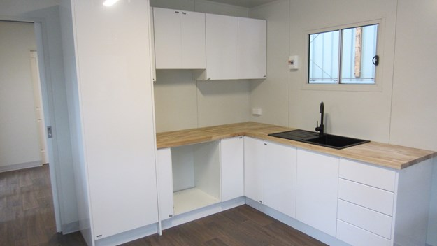 The Deluxe kitchen inside
