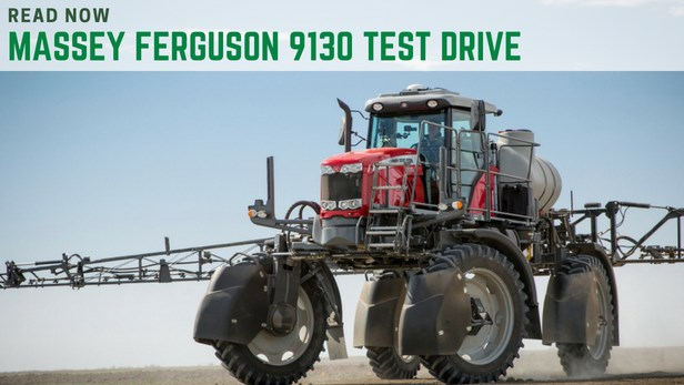 Massey Ferguson 9130 self propelled first drive