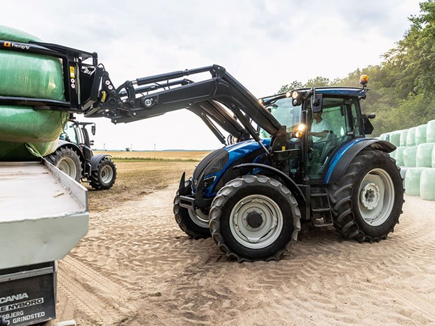 The Valtra tractor side on