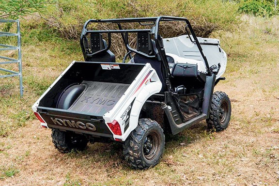 The Kymco from the rear