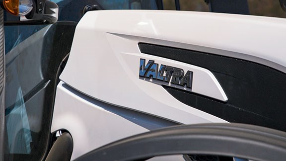 Under the bonnet of the Valtra is a 7.4-litre, six-cylinder AGCO Power engine