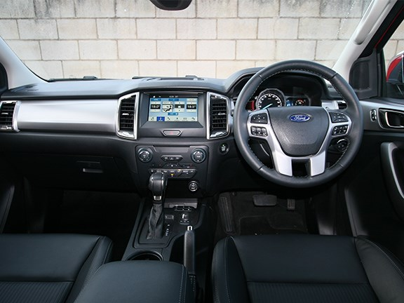 The refreshed Ford Ranger cabin