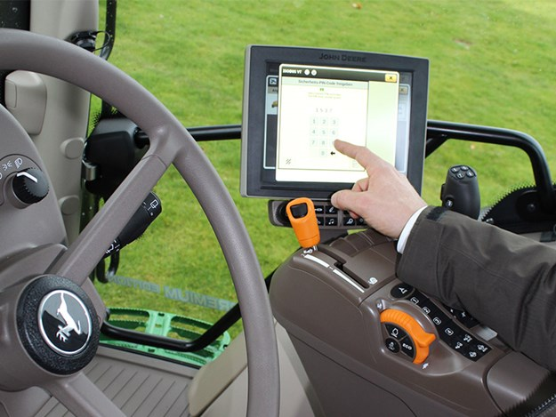 To help curb the rise in thefts of John Deere GPS equipment, a PIN code lock has been introduced