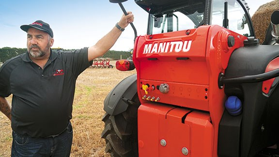 Rob Fuller from AB Equipment runs through the Manitou's features