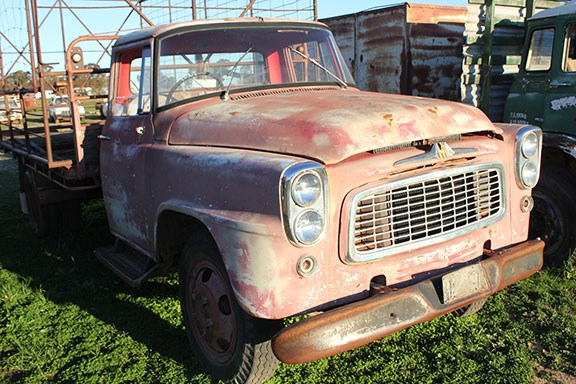 The famous International brand once dominated global truck and farm machinery manufacture. This bonneted beauty was built in the late 1950s.