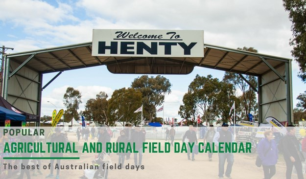 AGRICULTURAL AND RURAL FIELD DAYS CALENDAR