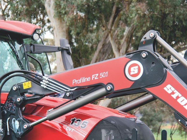 The Case IH Maxxum 135 CVT tractor has a stoll loader