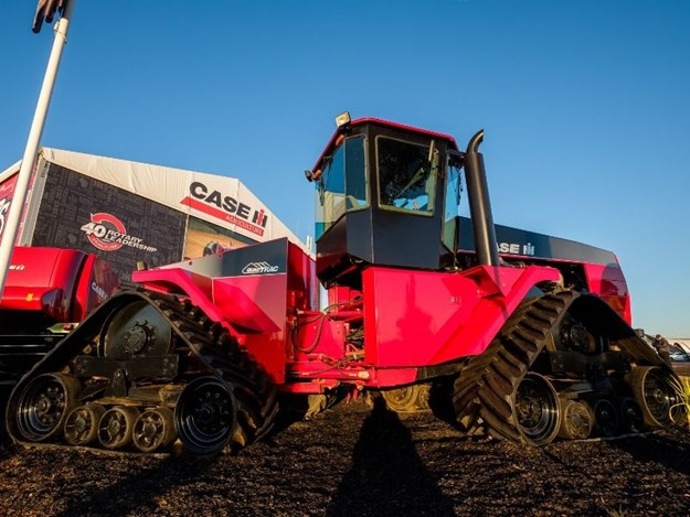 The fully-restored Case IH Steiger Quadtrac on show at the 2017 AgQuip field days at Gunnedah