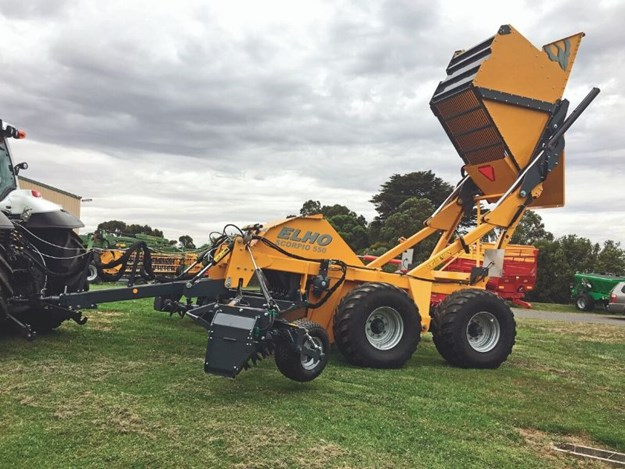 The Elho Scorpio 550 stone picker is helping farmer get ahead of the game for a future rainy season from Geronimo Farm Equipment