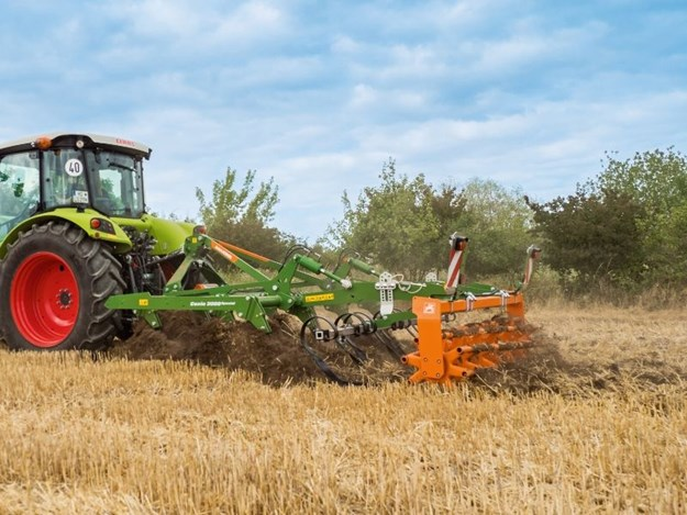 The new Amazone Cenio mounted cultivator working