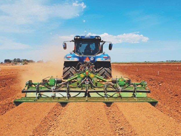 The Rotary Hoe Combovator in Action