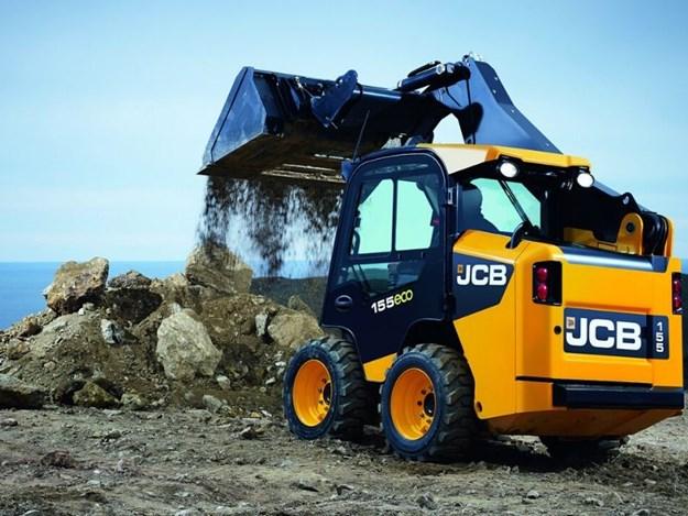 a JCB 155W Wheeled Skid Steer Loader on a job site