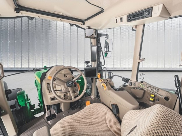 The new cab design with increased visibility and comfort.
