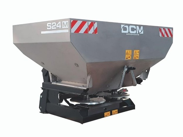The DCM S24 range of fertiliser spreaders is available from Silvan Australia with capacities from 900 up to 2,000 litres