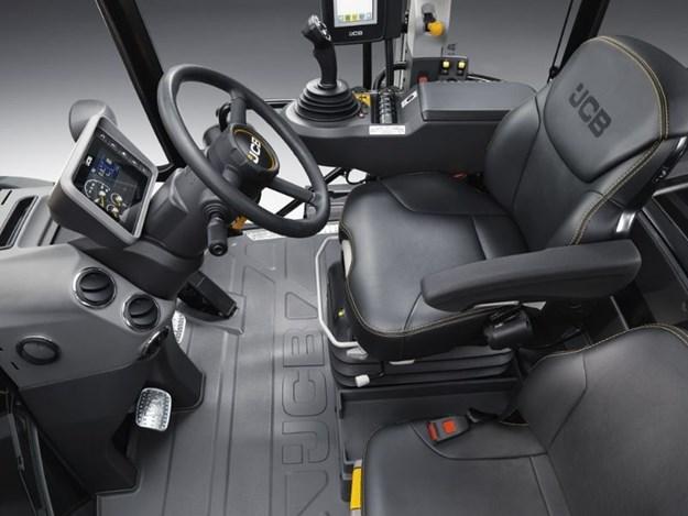 Inside JCB Fastrac 8330 Command Plus cabin