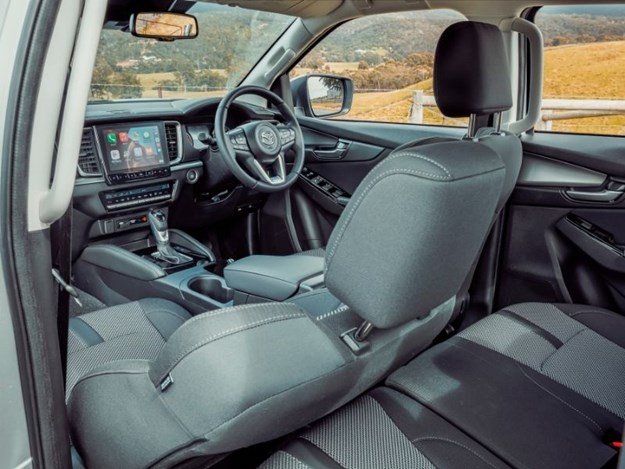 The dash is stylish but can be fiddly, with no dials for volume adjust or HVAC control