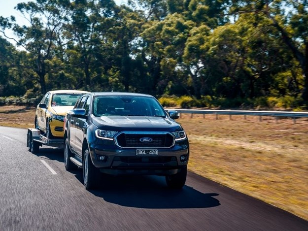 The best-selling Ford Ranger being tested in Australia