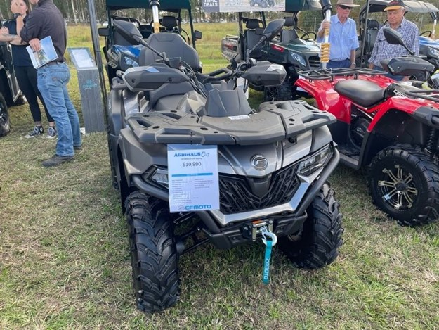 The CFMoto ATV on display at Primex