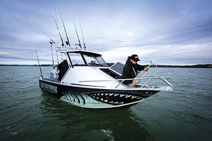 Sharkmouth boat wrap