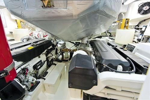 Engine room on Riviera 6000