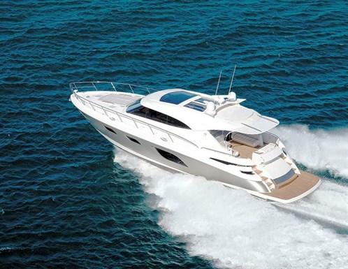 Riviera 6000 Sport Yacht on water