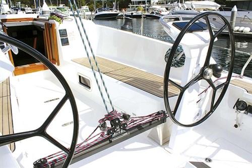 Helm on Bavaria Cruiser 41 Sport