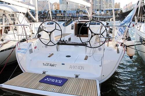 Docking Bavaria sailboat