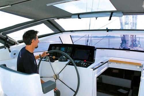 Amel 55 enclosed cockpit