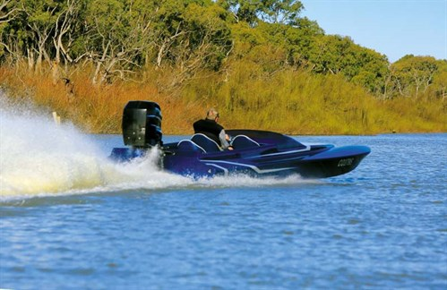 Pro Custom Terminator on the water