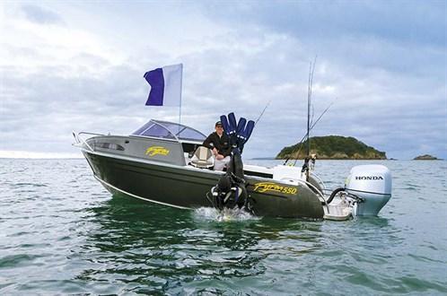 Fyran 550 dive boat