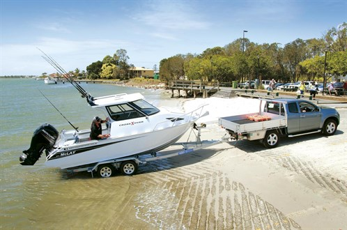 Mclay 611 Crossxover HT at boat ramp