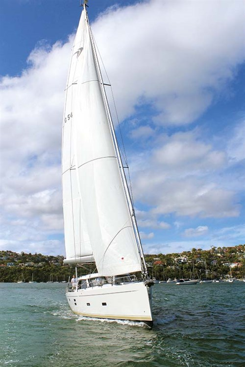 Moody 54 DS sails