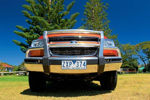 Front grill of Holden Colorado - LTZ