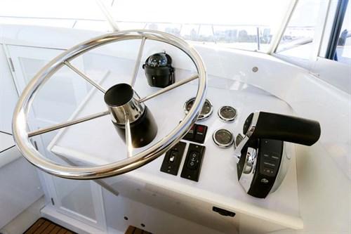 Caribbean 24 Flybridge helm