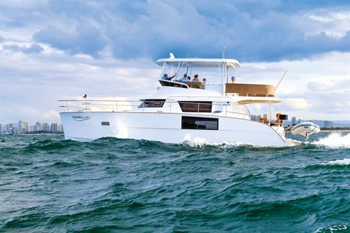 Fountaine Pajot Cumberland 47LR on the water